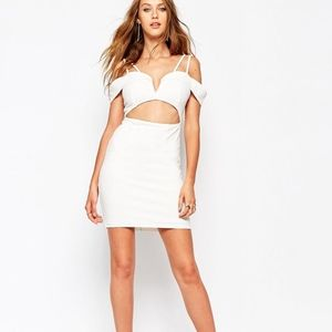 ASOS MISSGUIDED Off The Shoulder Bodycon Dress